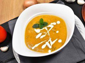 Kichererbsen Cremesuppe mit frischer Minze-Rezept-ballesworld