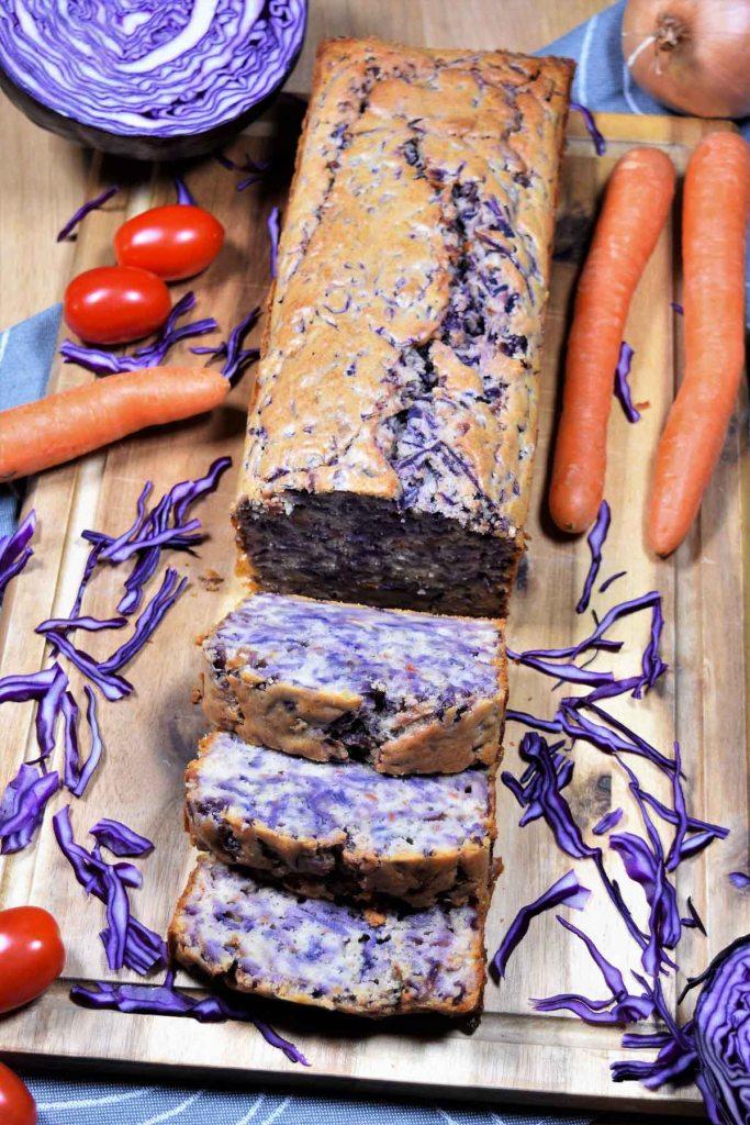 Rotkohl-Möhren-Kuchen-Herzhafte Kuchen-ballesworld