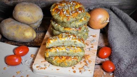 Kartoffel Taler mit Käse überbacken