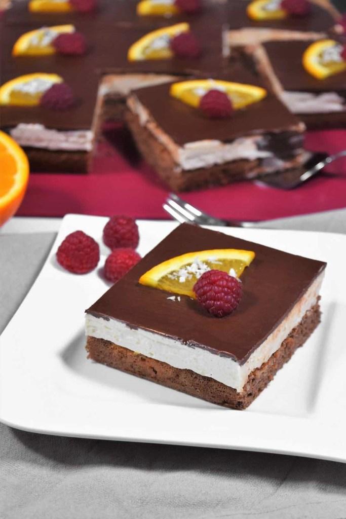 Orangen Schokoladen Kuchen Würfel-Dessert-ballesworld