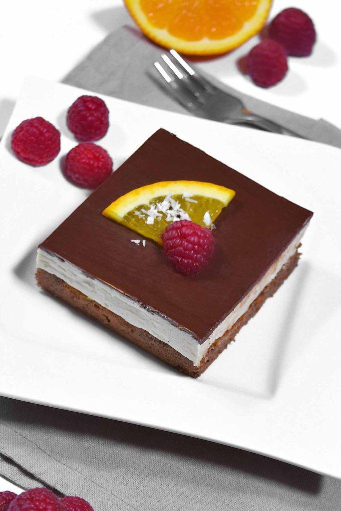 Orangen Schokoladen Kuchen Würfel-Nachtisch-ballesworld