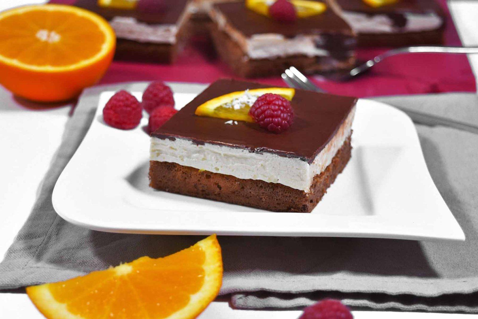 Orangen Schokoladen Kuchen Würfel-Rezept-ballesworld
