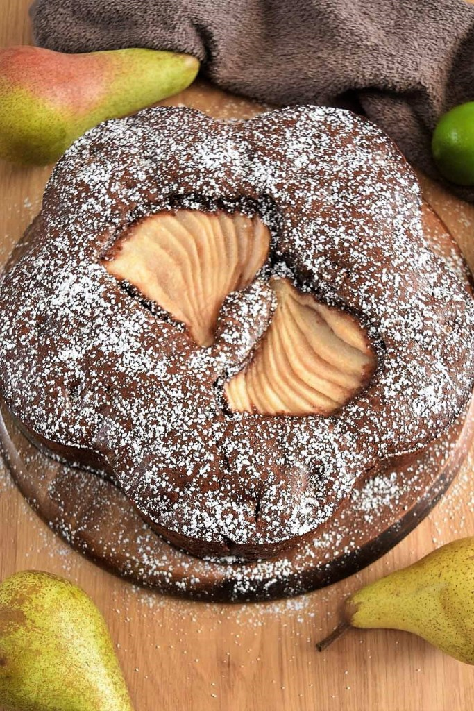 Schokolade-Birnen Kuchen-Kuchen backen-ballesworld