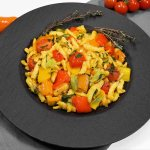 Spätzle mit gebratenem Gemüse-Rezept-ballesworld