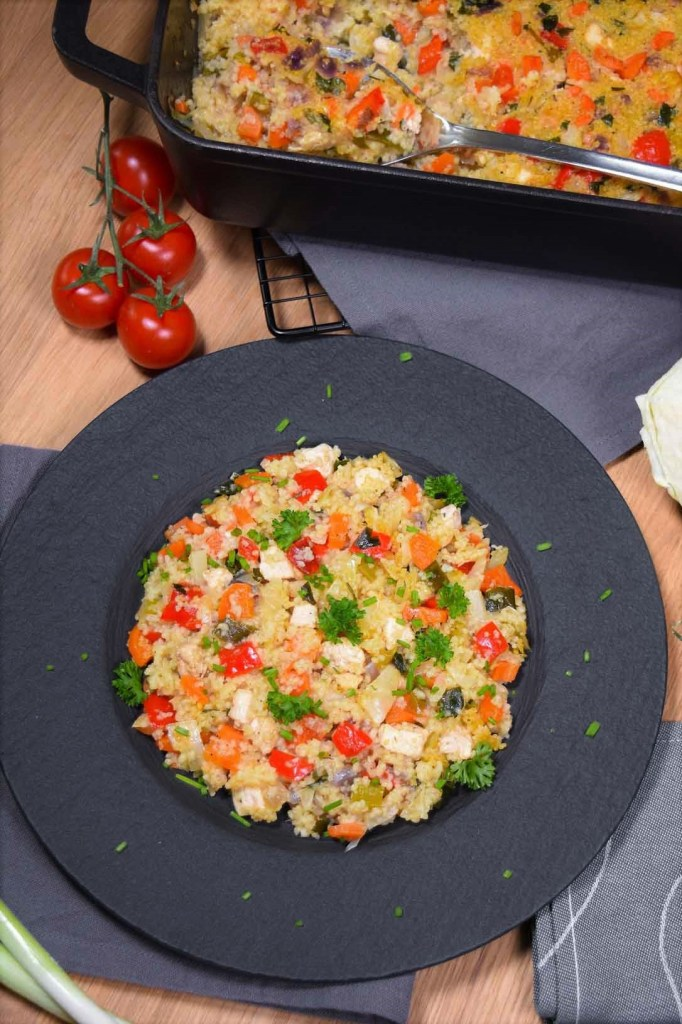 Couscous Weißkohl Auflauf mit Hähnchenbrust-Gesund-ballesworld