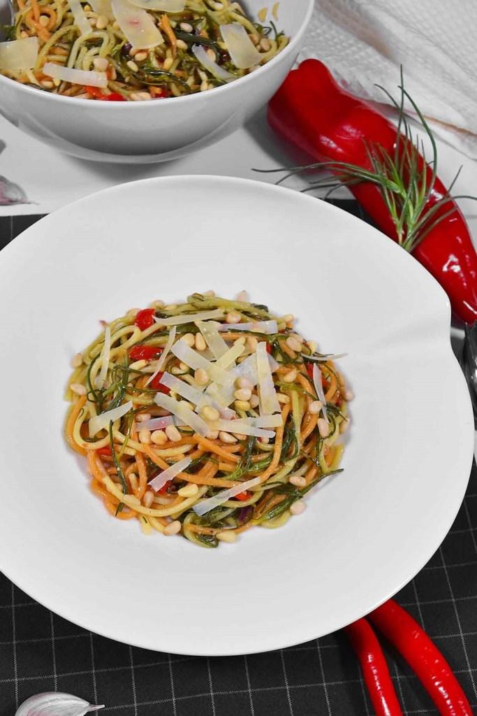 Mönchsbart-Knoblauch Spaghetti-Gesund-ballesworld