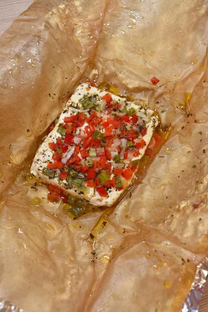 Feta Käse vom Grill mit Gemüse-Beilagen-ballesworld
