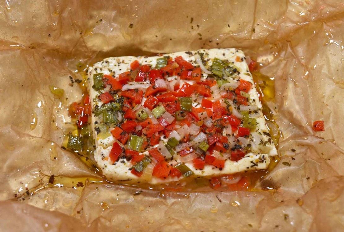 Feta Käse vom Grill mit Gemüse-Rezept-ballesworld