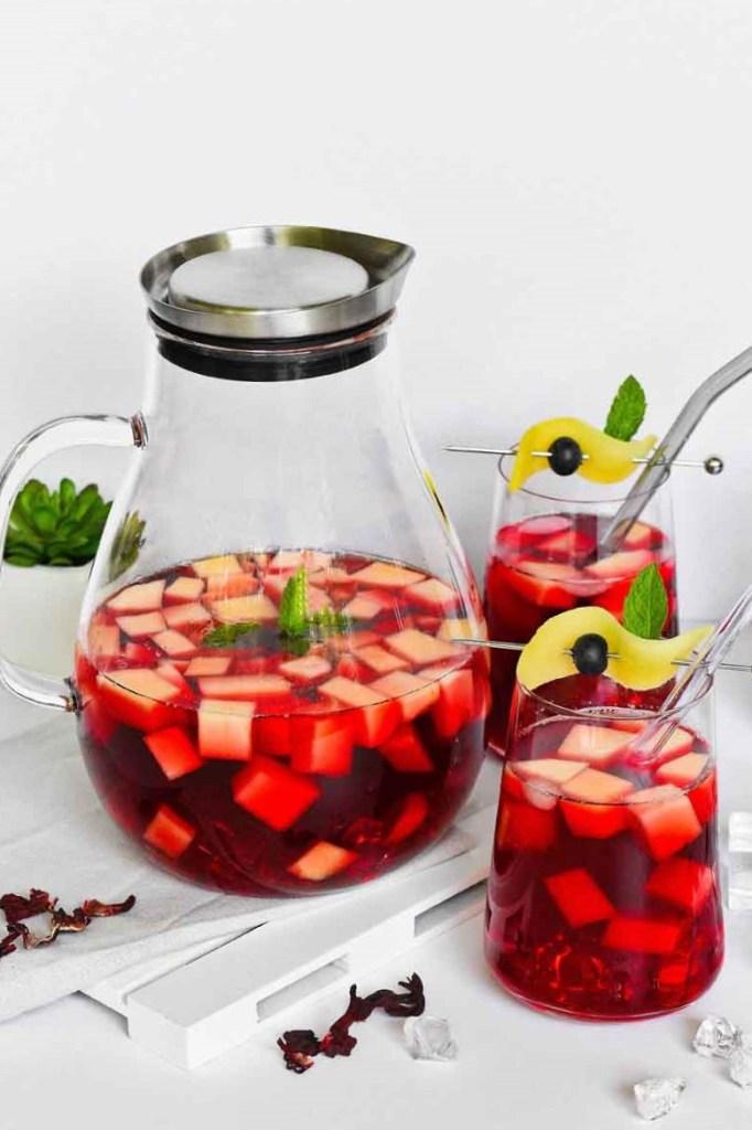 Hibiskus-Mango Eistee-Gesunde Drinks-ballesworld