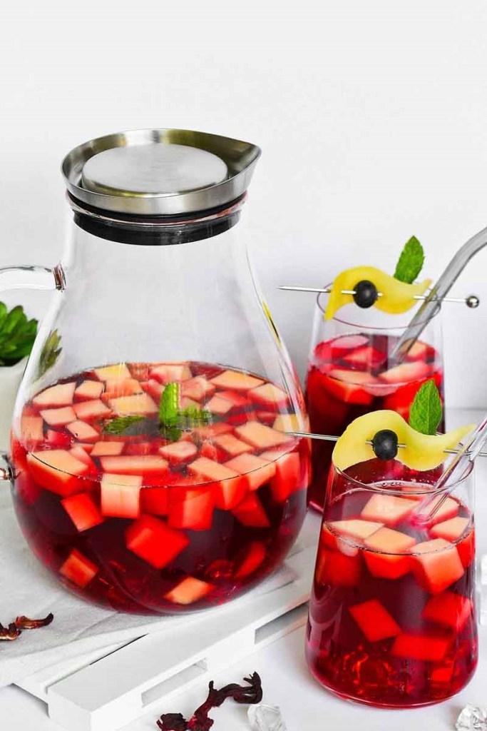 Hibiskus-Mango Eistee-Kalte Getränke-ballesworld