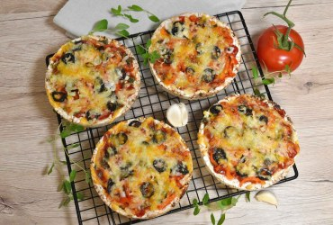 Reiswaffel Mini-Pizza-Rezept-ballesworld