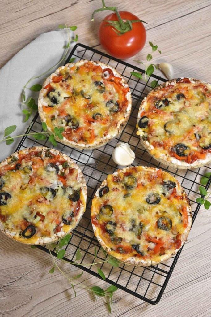 Reiswaffel Mini-Pizza-Vegetarisch-ballesworld