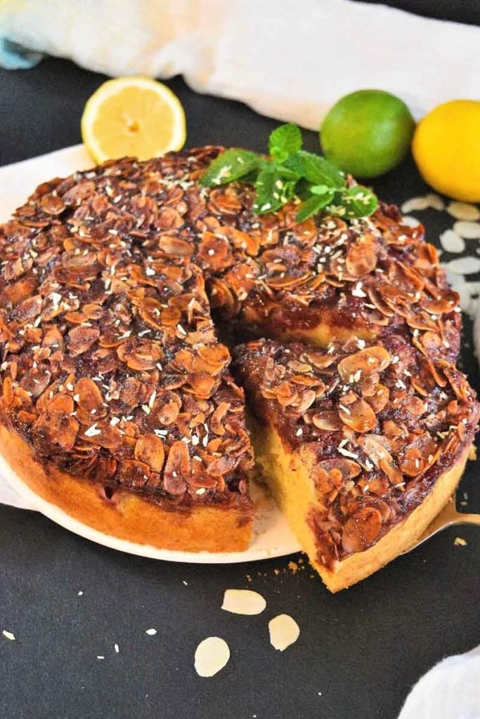 Kirschkuchen mit Mandel-Jam Kruste-Dessert-ballesworld