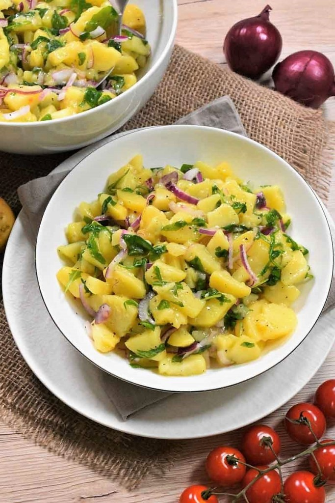 Warmer Kartoffelsalat mit Rucola-Vegan-ballesworld