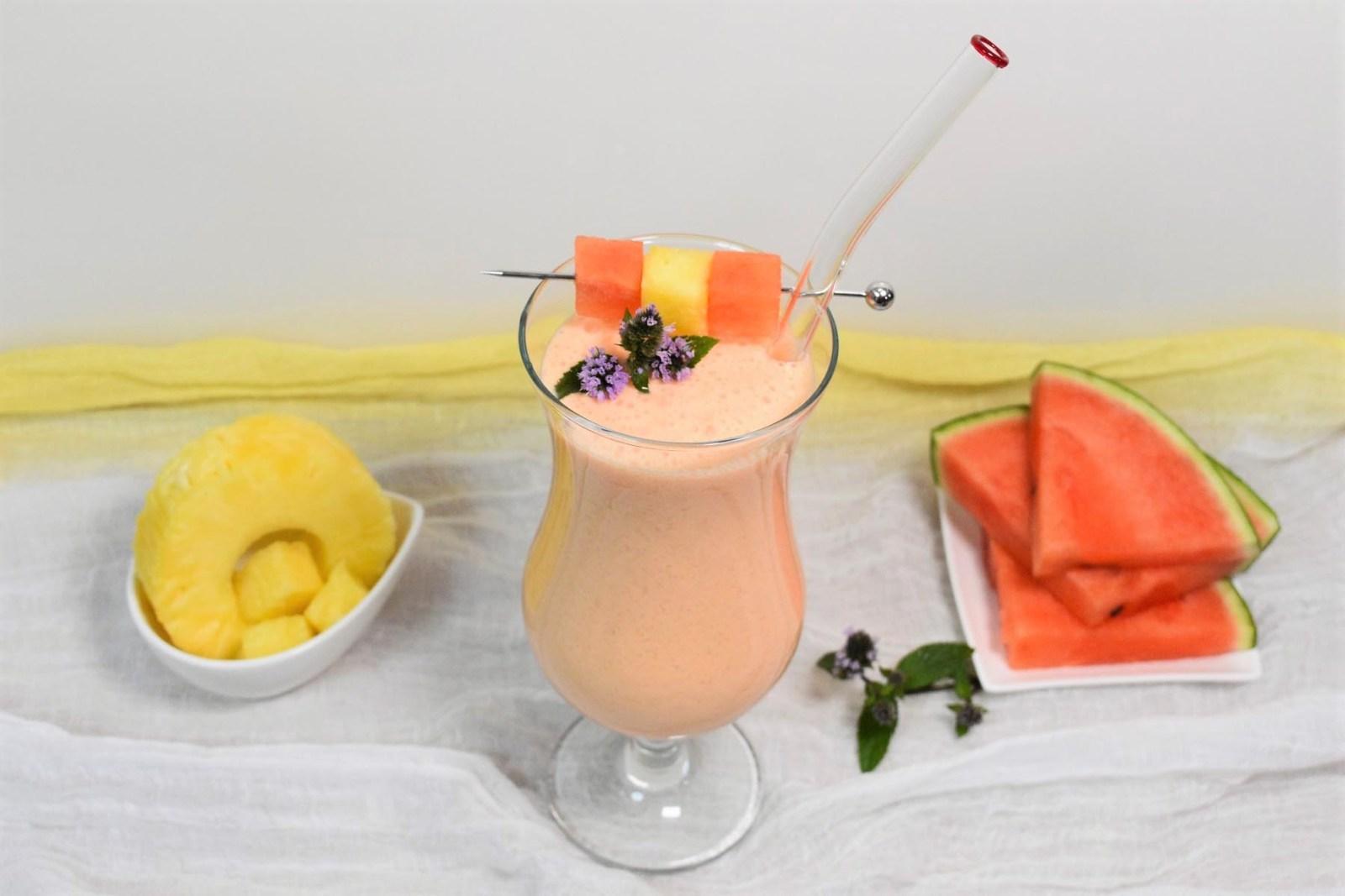 Wassermelonen-Ananas Shake-Rezept-ballesworld