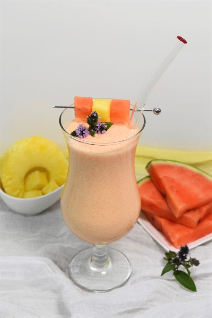 Wassermelonen-Ananas Shake-Smoothie-ballesworld