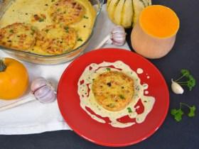 Kürbis Schnitzel mit Käse Sahne Soße-Rezept-ballesworld