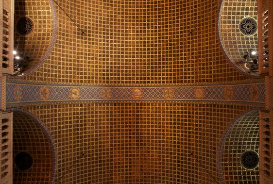 Christ-Church-United-Methodist-barrel-vault-ceiling-mosiac