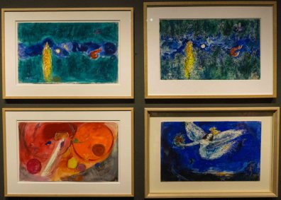 Firebird ballet backdrop sketch by Marc Chagall