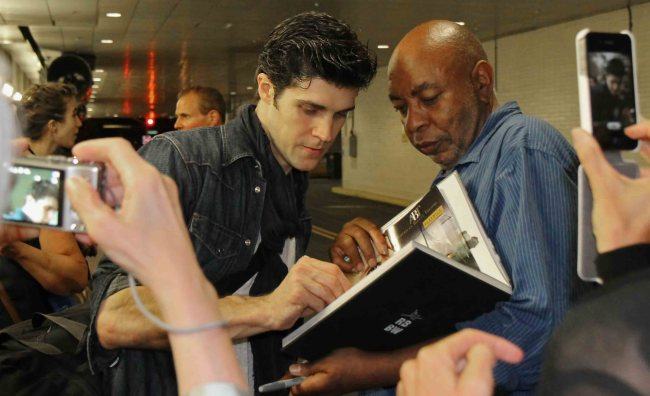 Stage door, Lincoln Center, Chasing Reggie Jackson, Roberto Bolle, Sylvia, June 28, 2013