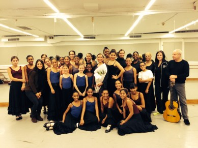 BH students and faculty with Gabriela Estrada following a successful master class!