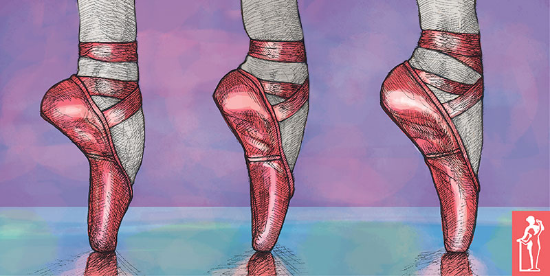 Correct Weight placement en pointe