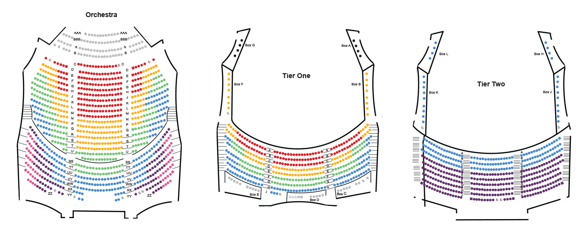 Cozy Ellen Eccles Theatre Seating Chart Seating Charts