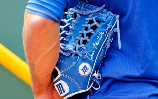 Jose Bautista's Glove: Custom Blue Marucci Founders Series