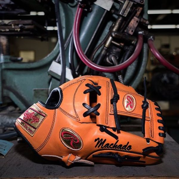 Manny Machado Rawlings Heart of the Hide Orange and Black PRONP5