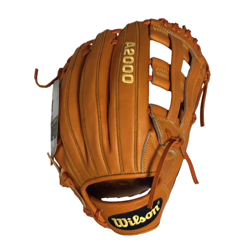 Wilson A2000 SP125: Orange Tan with a Slowpitch Specific Pattern