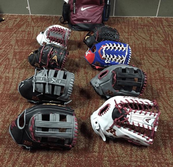 Minnesota Easton baseball gloves
