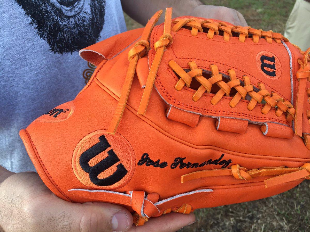 Lance McCullers' Glove: Wilson A2K JF16 (Jose Fernandez Remake)