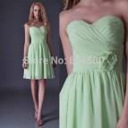 Mint Green Bridesmaid Dresses Knee Length