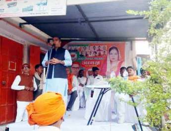 विधायक संजय यादव ने नुक्कड़ सभा कर मांगा संजू सिंह के लिए वोट