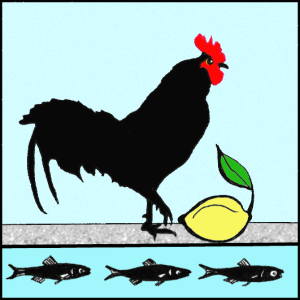 Chicken with Anchovies PNG 3