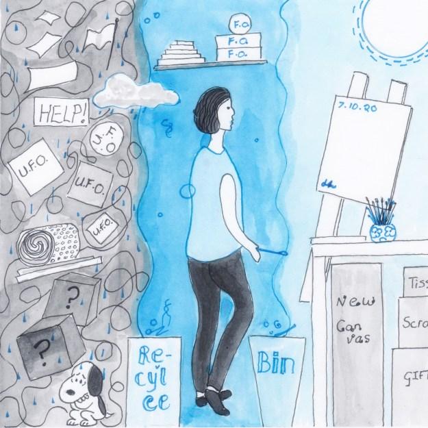 From Chaos to Calm, Inktober 2020 Day 7, Helen Lock artist, Western Australia