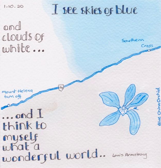 I See Skies Of Blue - #Inktober 2020 - Helen Lock