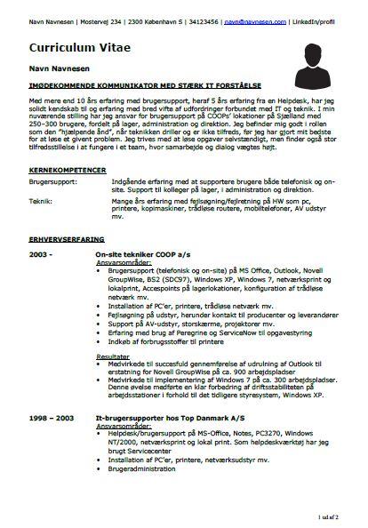 Et godt CV: Eksempler, skabeloner og gode råd
