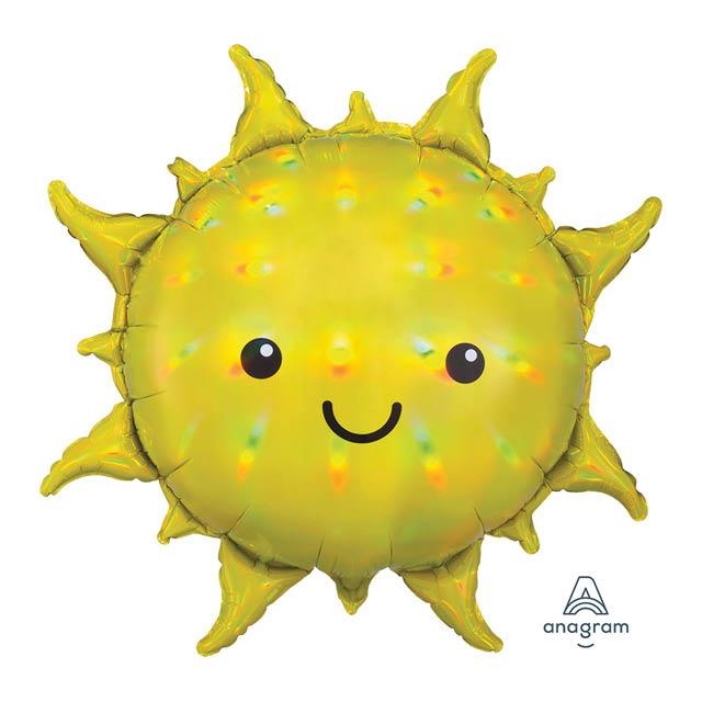 Helium Ballon Schitterende Zon 70 CM, zon ballon holographic, zomer, zon