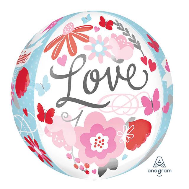 Helium Ballon Love Bol 40 CM, liefdesballon, ballon liefde, love ballon, ballon love