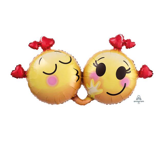 Helium Ballon Emoticons Love 70 CM , liefde, liefdesballon