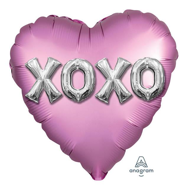 Helium Ballon XOXO 45 CM, love, liefde, ove, liefde, liefdesballon, ballon versturen, ballon cadeau, kadoballon, love you ballon, liefdesballon, valentijnsballon, ballon versturen , ballon per post, ballonpost