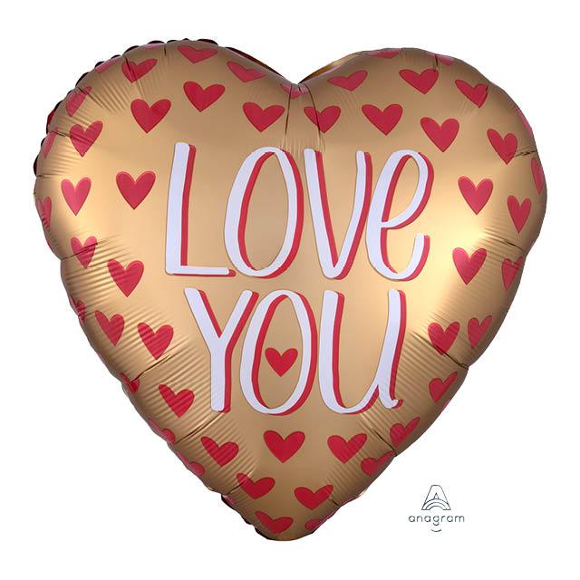 Helium Ballon ILY Goud 90 CM, love, liefde, Helium Ballon ILY Letters 45 CM, love, love ballon, liefde, liefdesballon, ballon versturen, ballon cadeau, kadoballon, love you ballon, liefdesballon, valentijnsballon, ballon versturen , ballon per post, ballonpost liefde, liefdesballon