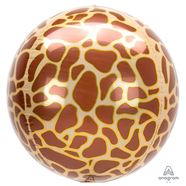 Helium Ballon Giraffenprint Bol 40 CM, ballon versturen, Greetz ballon, helium ballon, ballon per post