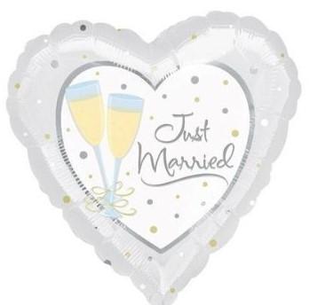 Jumbo Just Married, helium ballon versturen, huwelijks ballon versturen.