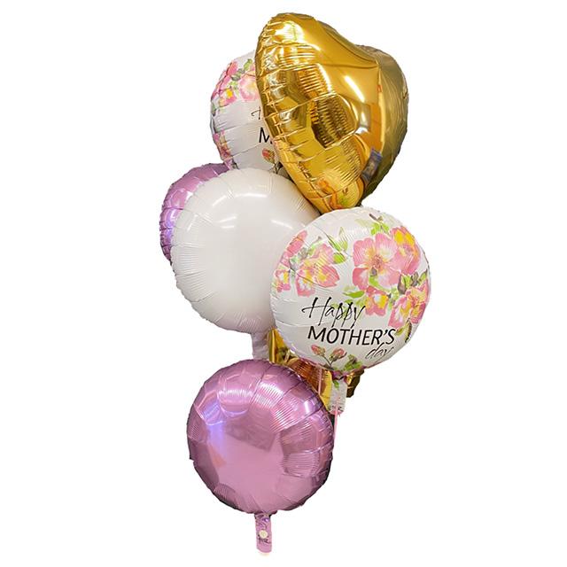 Helium Ballon Boeket Moederdag, ballon versturen, ballonnen per post, tros ballonnen, ballon boeket, moederdag ballonnen, helium ballon