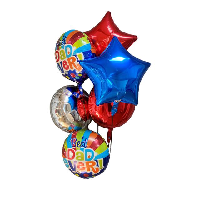 Helium Ballon Boeket Vaderdag, vaderdag, ballonnen, ballon per post, greetz, tros ballonnen, helium ballon papa