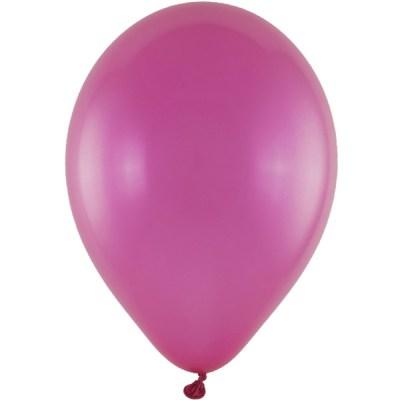 Latexballon 28cm metallic 64 pink