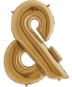 Folienballon Buchstabe gold 102 cm hoch &