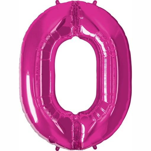 Folie Zahl 0 pink